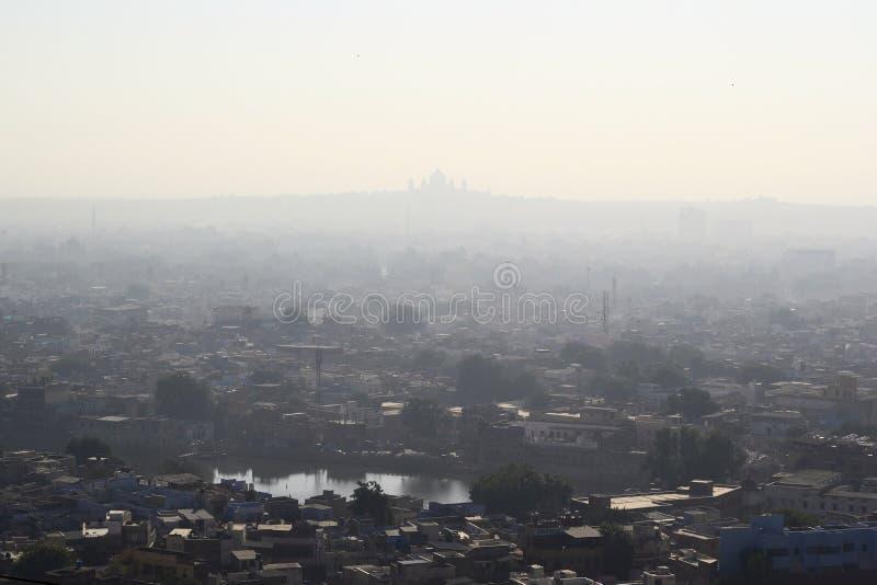 Vue aérienne de ville de Jodhpur photographie stock libre de droits