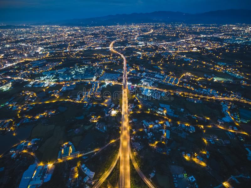 Vue aérienne de ville de Taoyuan photo stock