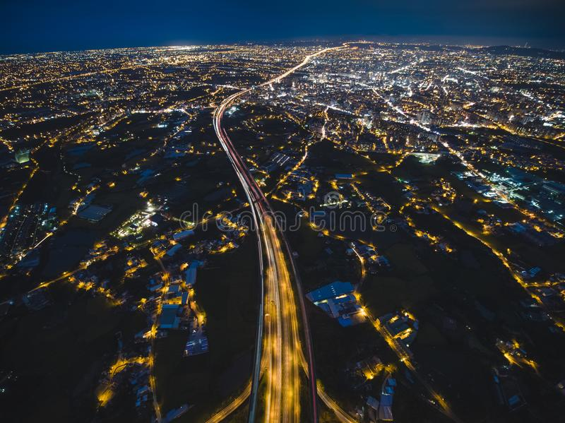 Vue aérienne de ville de Taoyuan photographie stock libre de droits