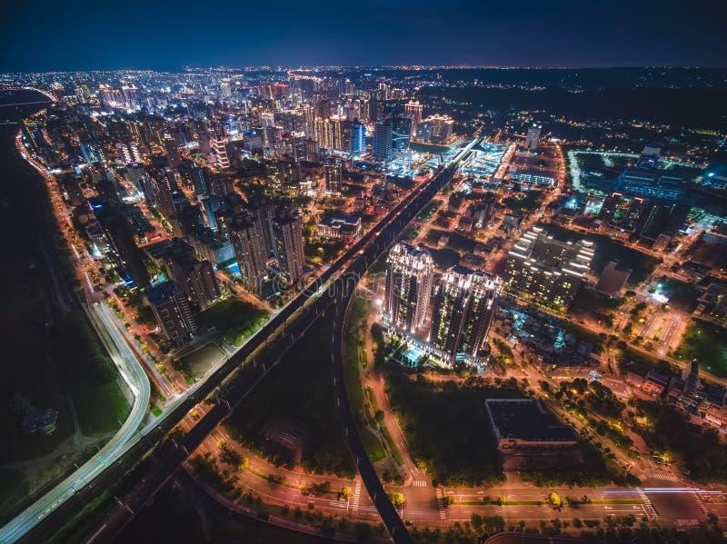 Vue aérienne de ville de Zhubei photographie stock libre de droits
