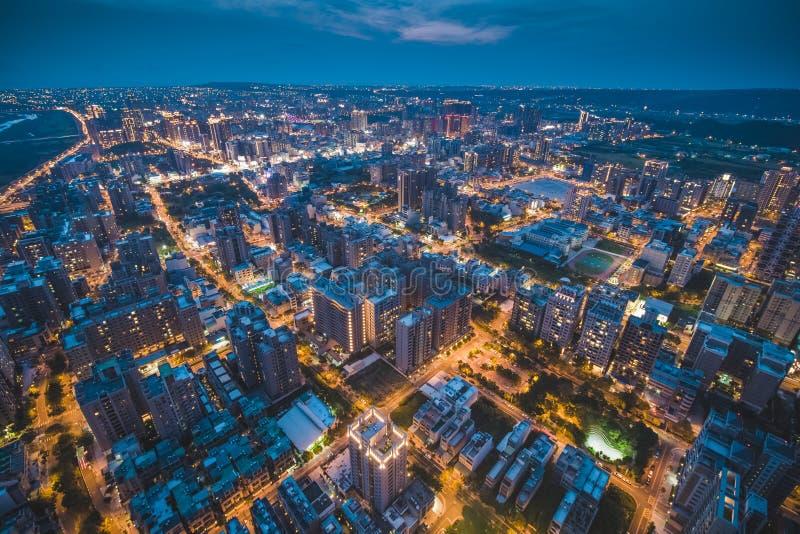 Vue aérienne de ville de Zhubei photos libres de droits
