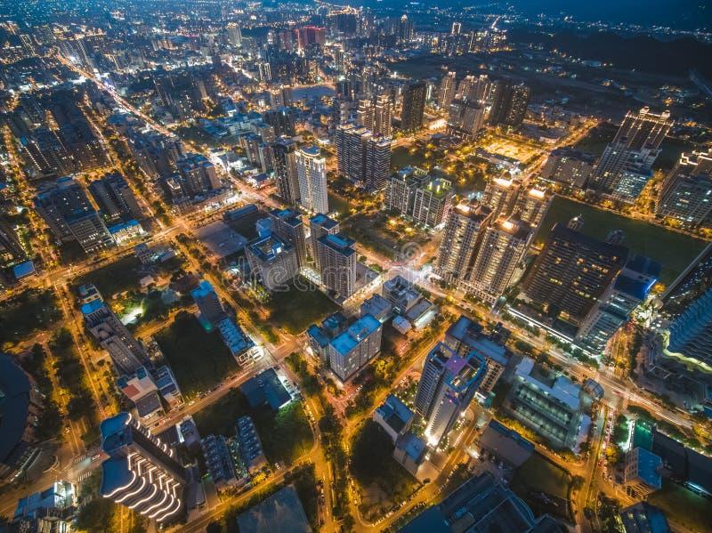 Vue aérienne de ville de Zhubei photographie stock