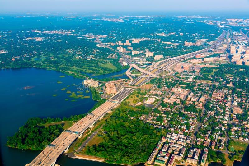 Vue aérienne de Washington DC aux Etats-Unis images stock