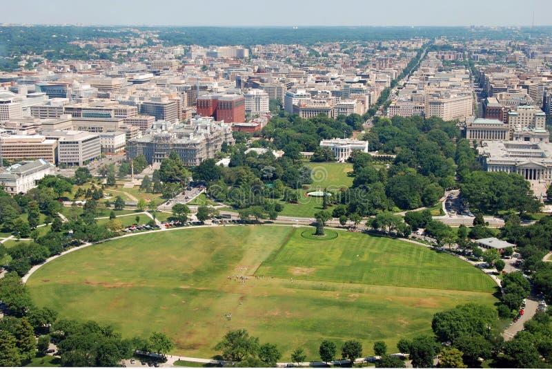 Vue aérienne de Washington DC avec la maison blanche images libres de droits