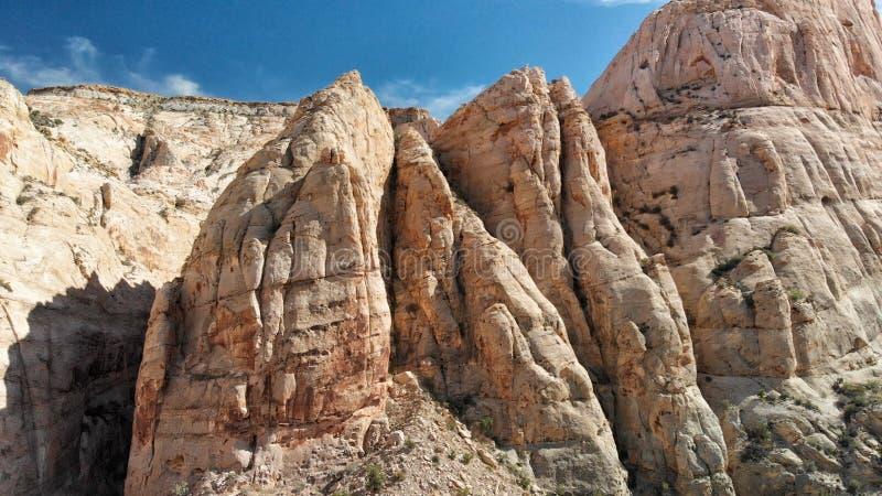 Vue aérienne de Zion National Park de route et de montagnes, Utah photo libre de droits