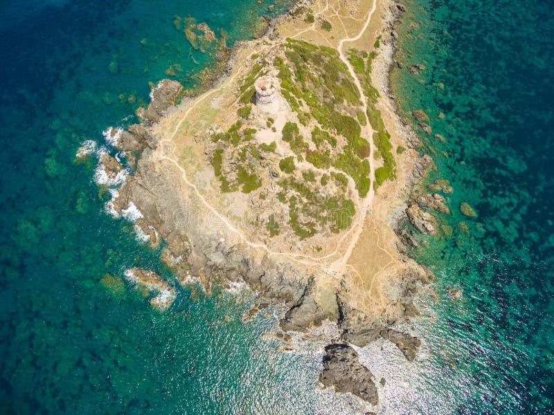 Vue aérienne des îles sanguinaires de Sanguinaires en Corse, ATF photos stock