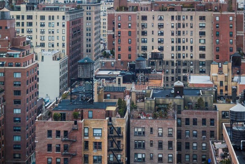 Vue aérienne des appartements de Manhattan images stock