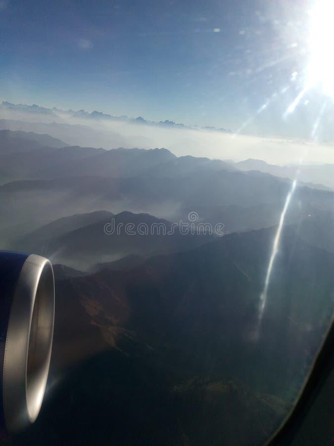 Vue aérienne des collines de la Kashmir, stupéfiant photos libres de droits