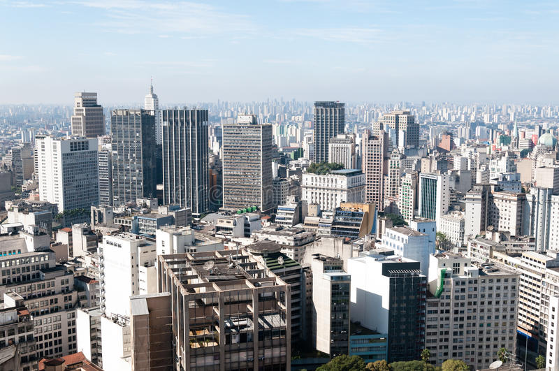 Vue aérienne des constructions à Sao Paulo. photographie stock