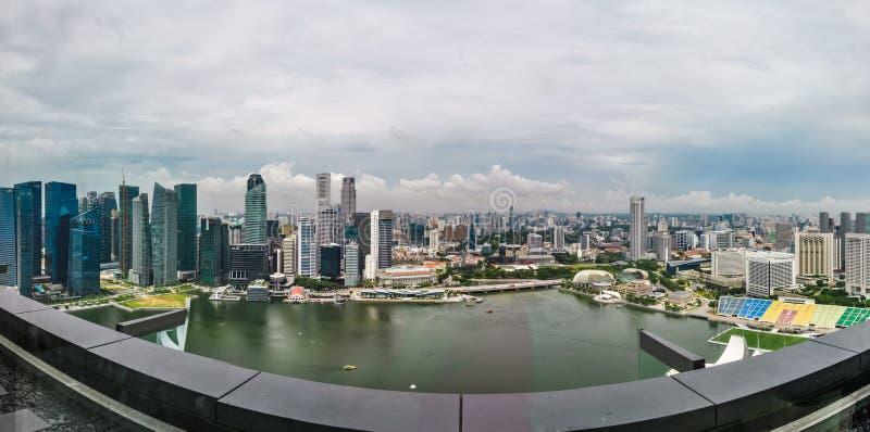 Vue aérienne des gratte-ciel à Singapour photographie stock libre de droits