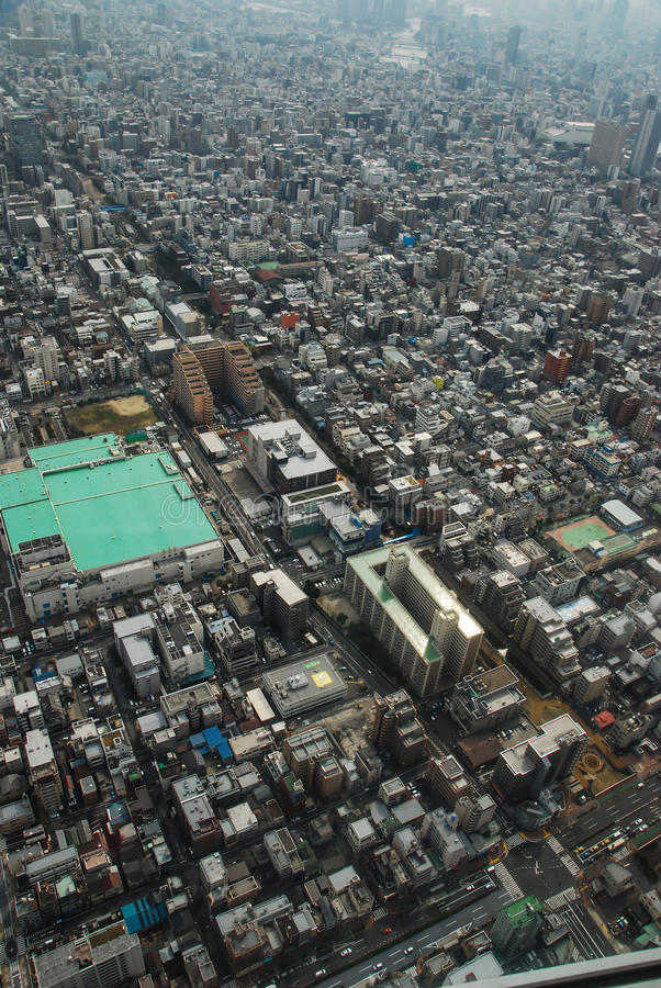 Vue aérienne des gratte-ciel du Midtown Tokyo Japon photographie stock libre de droits
