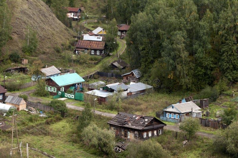 Vue aérienne des maisons locales du Kremlin image libre de droits