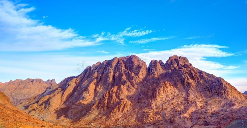 Vue aérienne des montagnes de Sinai en Egypte de bâti Moïse photographie stock