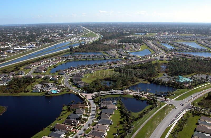 Vue aérienne des omnibus de la Floride image stock