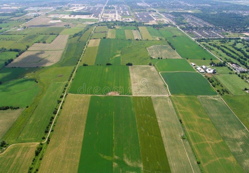 Vue aérienne des terres cultivables image stock