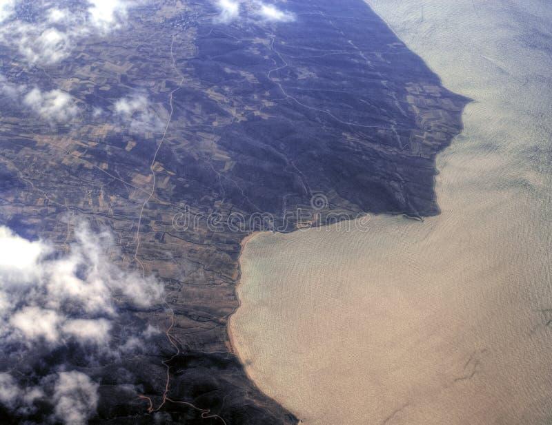 Vue aérienne du Bahrain photographie stock