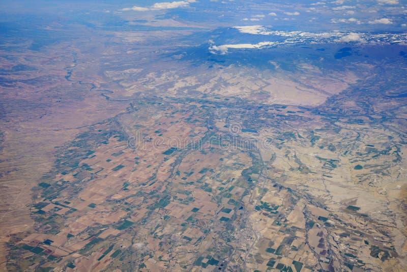 Vue aérienne du beau paysage urbain d'Olathe images libres de droits