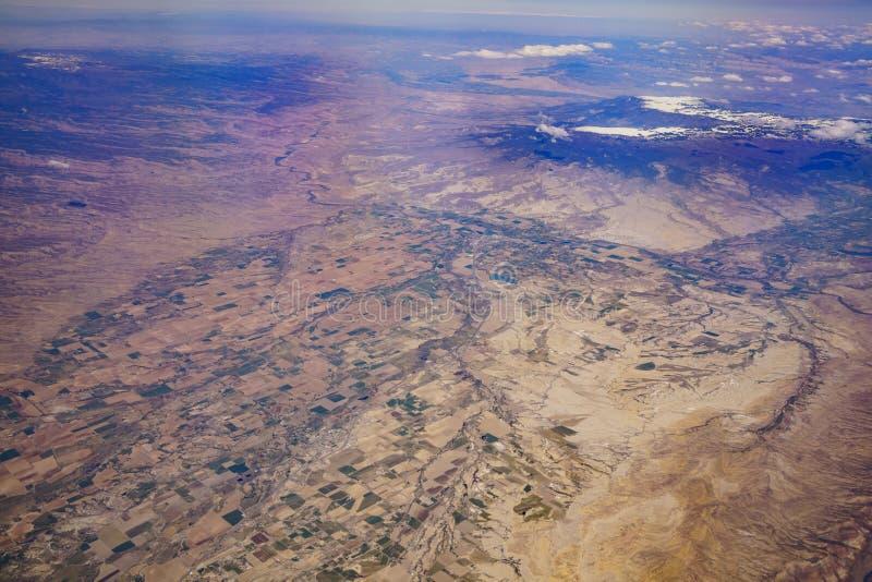 Vue aérienne du beau paysage urbain d'Olathe image stock