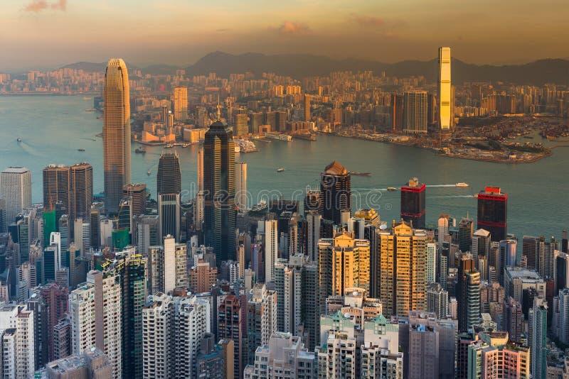 Download Vue Aérienne Du Centre D'affaires De Ville De Hong Kong Au-dessus De Victoria Bay Image stock - Image du hong, downtown: 87707091