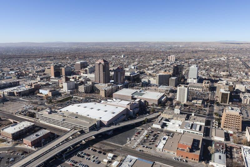 Antenne d'Albuquerque Nouveau Mexique au centre ville photographie stock