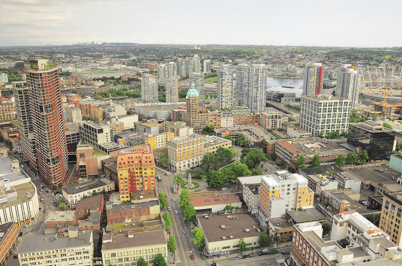 Vue aérienne du centre de la ville image libre de droits
