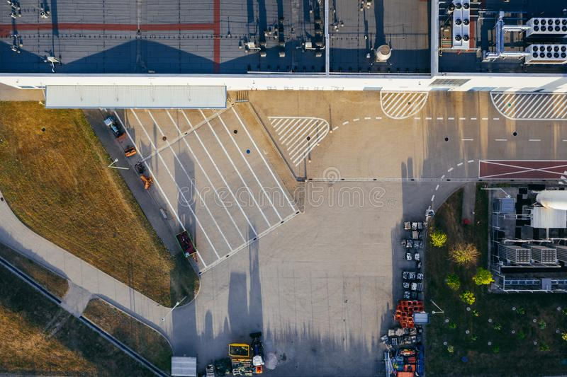 Vue aérienne du centre serveur de distribution photos stock