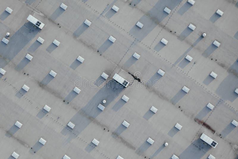 Vue aérienne du centre serveur de distribution photo stock