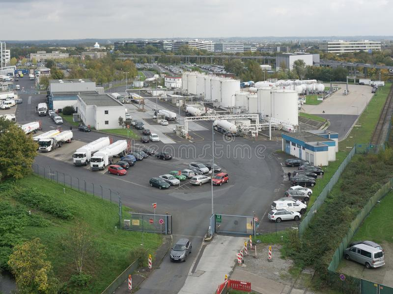 Vue aérienne du paysage industriel photographie stock
