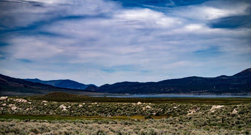 Vue aérienne du ranch de Hunewill près de Bridgeport, la Californie photographie stock