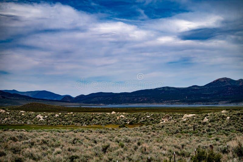 Vue aérienne du ranch de Hunewill près de Bridgeport, la Californie photo libre de droits