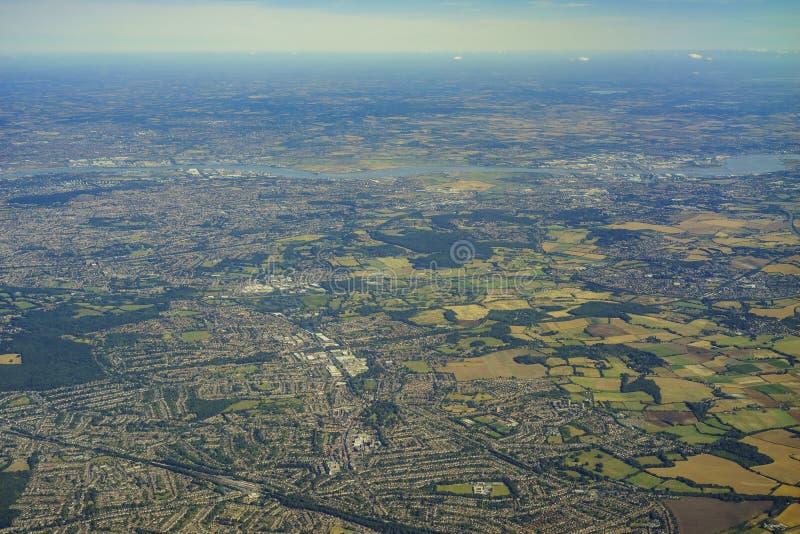 Vue aérienne du Royaume-Uni image libre de droits