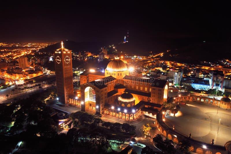 Vue aérienne du sanctuaire de Nossa Senhora Aparecida, Aparecida, Sao Paulo, Brésil image libre de droits