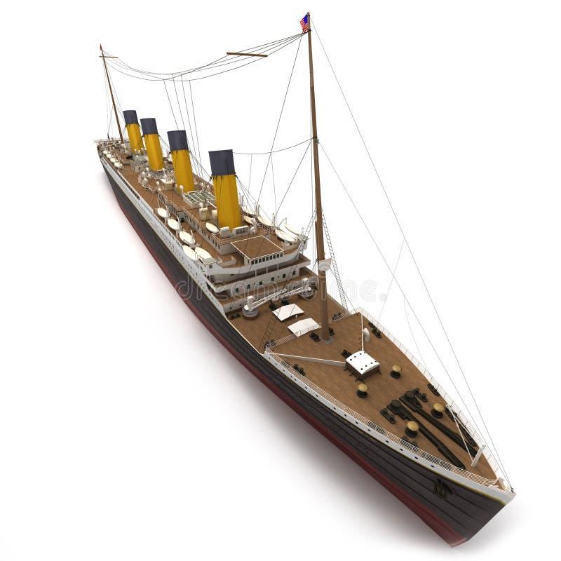 Vue aérienne du titanique illustration de vecteur