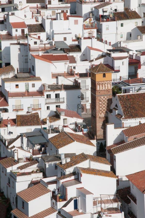 Vue aérienne du village d'Axarquia photo stock