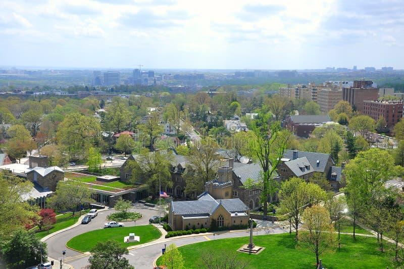 Vue aérienne du Washington DC, Etats-Unis photo stock