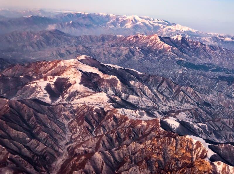 Vue aérienne Himalaya images libres de droits