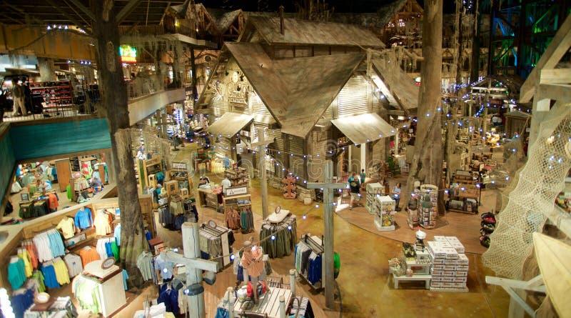 Vue aérienne intérieure de Bass Pro Shop, Memphis Tennessee photo libre de droits