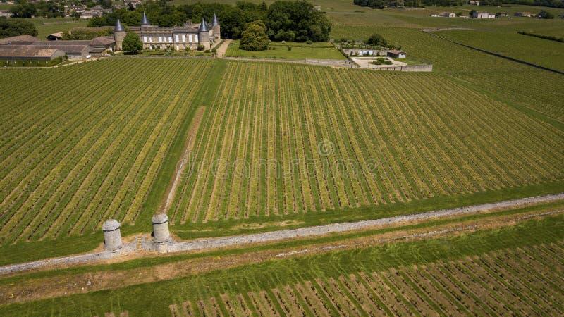 Vue aérienne Montagne Saint Emilion, l'Aquitaine, Bordeaux Wineyard photographie stock