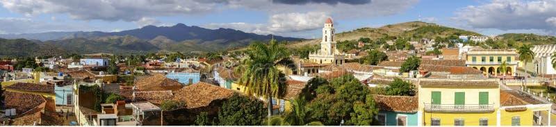 Vue aérienne panoramique de site de Trinidad Cuba Unesco World Heritage image stock