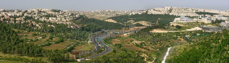 Vue aérienne panoramique sur Jérusalem. photo libre de droits