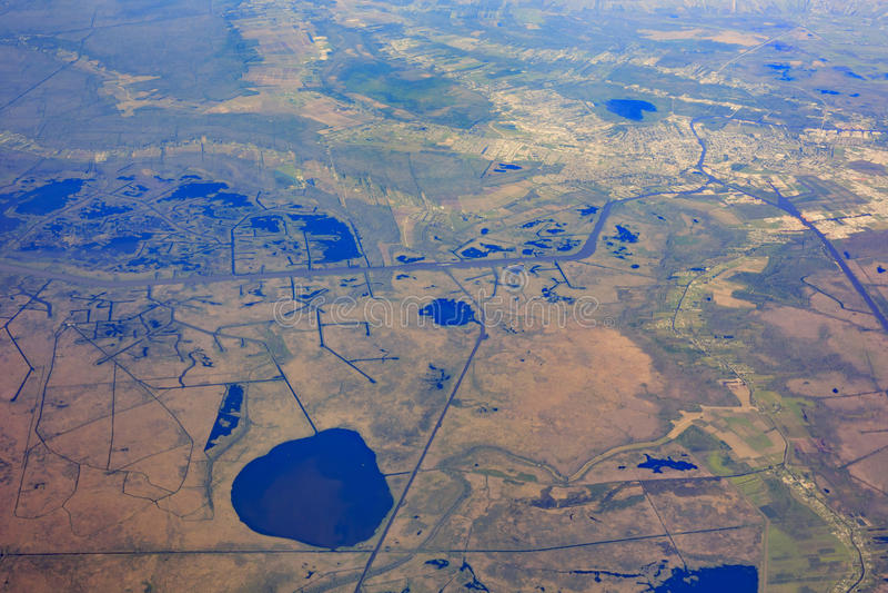 Vue aérienne près d'Austin photos stock