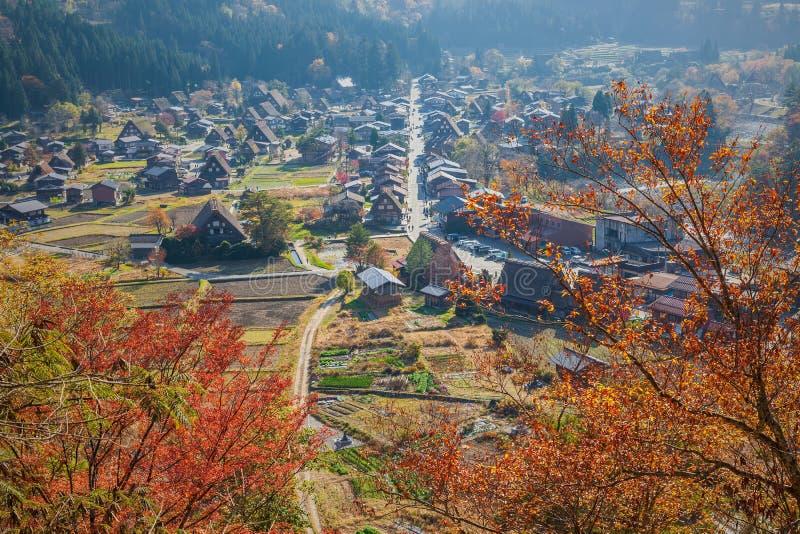 Vue aérienne Shirakawa-Aller image libre de droits