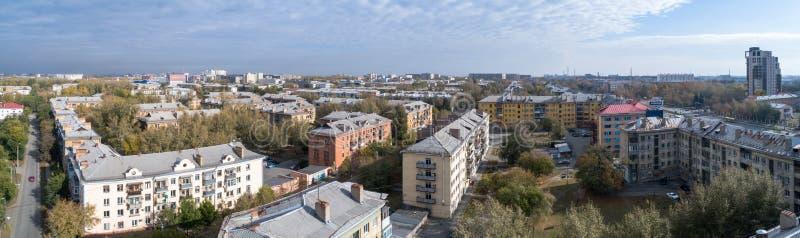 Vue aérienne sur la ville photo stock