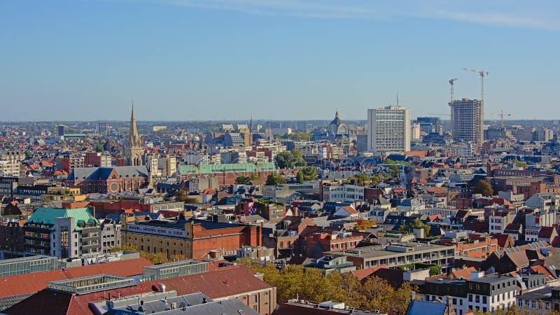 Vue aérienne sur la ville d'Anvers image libre de droits