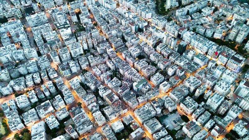 Vue aérienne sur le towm photos libres de droits