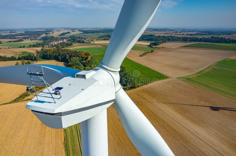 Vue aérienne sur les moulins à vent photos libres de droits