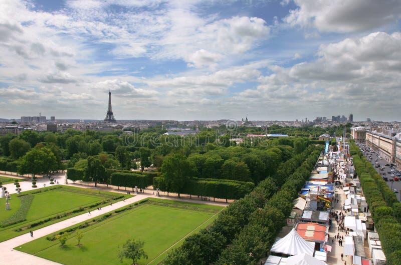 Vue aérienne sur Paris. images stock