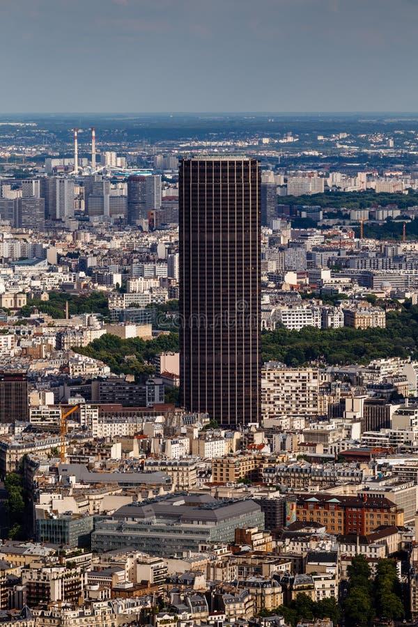 Vue aérienne sur Paris et Montparnasse de Tour Eiffel images libres de droits