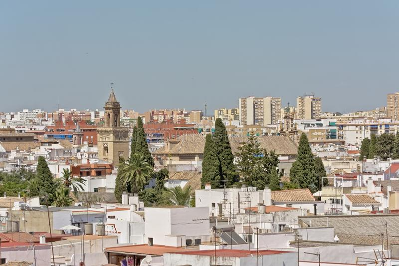 Vue aérienne sur séville du centre, Espagne photo libre de droits