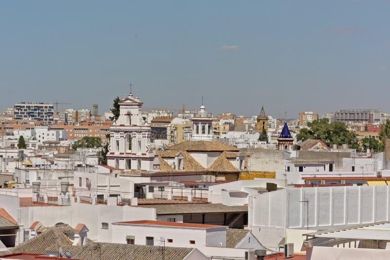 Vue aérienne sur séville du centre, Espagne photo stock